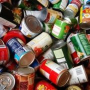 Image of canned food in a pile