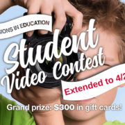 Banner announcing extension of Visions Video Contest