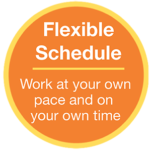 Flexible Schedule - work at your own pace and on your own time