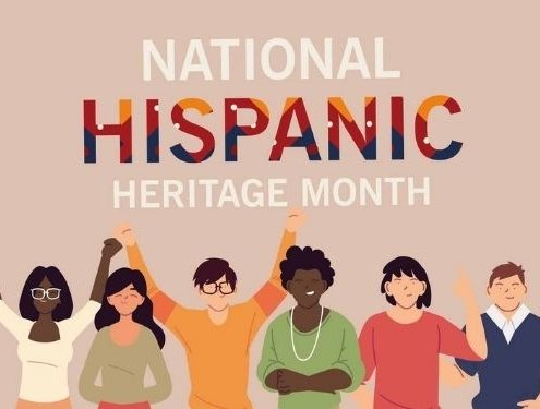 national hispanic heritage month with latin women and men cartoons design, culture and diversity theme Vector illustration (national hispanic heritage month with latin women and men cartoons design, culture and diversity theme Vector illustration, ASC